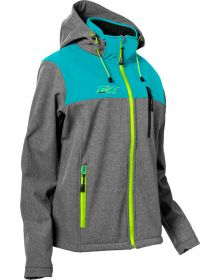 Castle X Barrier Womens Jacket Turquoise/Heather Gray