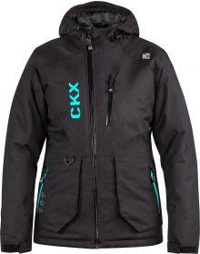 CKX Element Snowmobile Womens Jacket Black/Turquoise