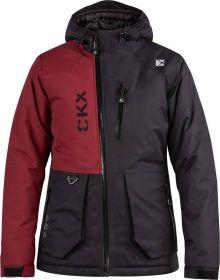 CKX Element Snowmobile Womens Jacket Black/Dark Red