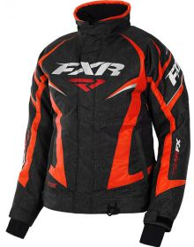 FXR Team Womens Jacket Black Heather/Elec Tangerine