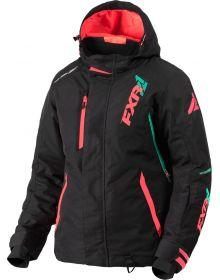 FXR Vertical Pro Womens Jacket Black/Coral/Mint