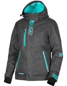 FXR Pulse Womens Jacket Black Linen/Mint