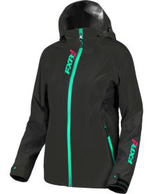 FXR Vertical Edge Trilaminate Womens Jacket Black/Mint