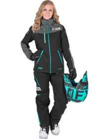 FXR Elevation Lite Dri-Link 2pc Womens Monosuit Black/Char/Mint