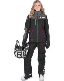 FXR Elevation Lite Dri-Link 2pc Womens Monosuit Black/Char/Fuchsia