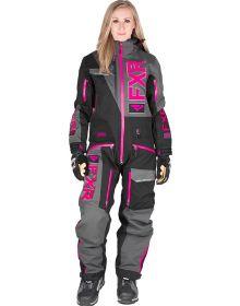 FXR Ranger Instinct Lite Womens Monosuit Black/Char/Fuchsia