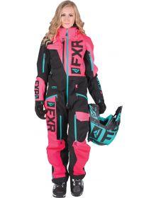 FXR Ranger Instinct Lite Womens Monosuit Black/Coral/Mint