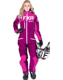 FXR Helium Lite Trilaminate Womens Monosuit Wineberry/Lt Wineberry