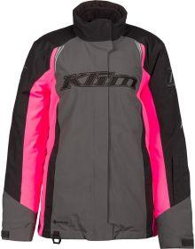 Klim 2021 Strata Womens Jacket Asphalt/Knockout Pink