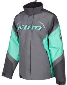 Klim Spark Womens Snowmobile Jacket Asphalt/Wintermint