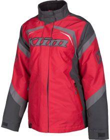 Klim Spark Womens Snowmobile Jacket Asphalt/Chili Pepper
