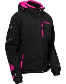 LRG Charcoal//Pink Glo//Hi-Vis Castle X Code Womens Snowmobile Jacket