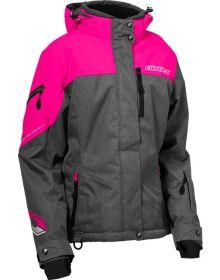 Castle X Powder G2 Womens Jacket Heather Gray/Pink Glo