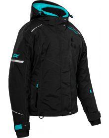 Castle X Polar Womens Snowmobile Jacket Black/Turquoise
