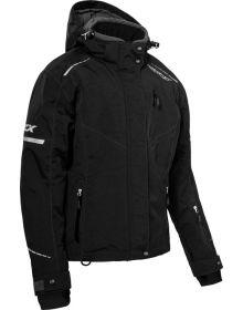 Castle X Polar Womens Snowmobile Jacket Black/White
