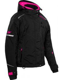 Castle X Polar Womens Snowmobile Jacket Black/Pink