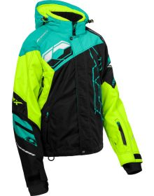 Castle X Code Womens Snowmobile Jacket Black/Hi-Vis/Mint