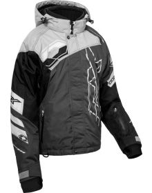 Castle X Code Womens Snowmobile Jacket Silver/Black/Charcoal