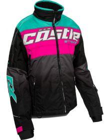Castle X Strike Womens Snowmobile Jacket Pink Glo/Black/Mint