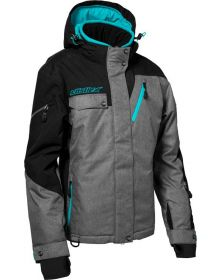 Castle X Powder G3 Womens Snowmobile Jacket Heather/Black/Turquoise