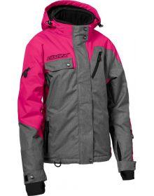 Castle X Powder G3 Womens Snowmobile Jacket Heather/Rose