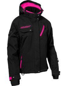 Castle X Powder G3 Womens Snowmobile Jacket Black/Pink Glo