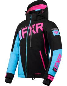 FXR Ranger Womens Jacket Black/Sky Blue/Electric Pink