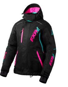 FXR Vertical Pro Womens Jacket Black/Electric Pink/Mint