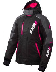 FXR Vertical Pro Womens Jacket Black/Charcoal/Fuchsia