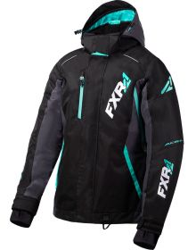 FXR Vertical Pro Womens Jacket Black/Charcoal/Mint