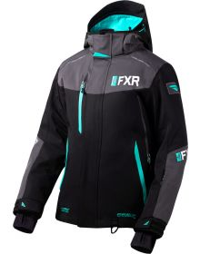 FXR Renegade FX Womens Jacket Black/Charcoal/Mint