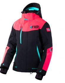 FXR Renegade FX Womens Jacket Black/Coral/Mint