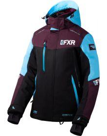FXR Renegade FX Womens Jacket Black/Plum/Sky Blue
