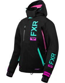 FXR Evo FX Womens Jacket Black/Mint/Electric Pink