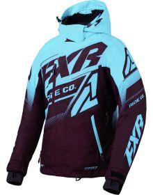 FXR Boost FX Womens Jacket Plum/Sky Blue
