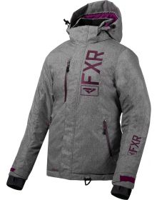 FXR Fresh Womens Jacket Grey Linen/Plum