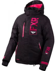 FXR Fresh Womens Jacket Black Linen/Fuchsia