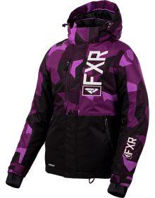 FXR Fresh Womens Jacket Plum Camo/Black/White