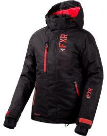 FXR Fresh Womens Jacket Black Linen/Coral