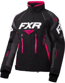 FXR Adrenaline X Womens Jacket Black/Charcoal/Fuchsia