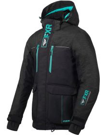 FXR Excursion Ice Pro Womens Jacket Black/Charcoal Jersey/Mint