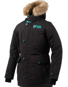 FXR Svalbard Womens Parka Jacket Black/Mint