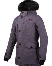 FXR Svalbard Womens Parka Jacket Mid Grey Heather/Plum