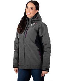 FXR Vertical Pro Insulated Softshell Womens Jacket Grey Heather/Plum