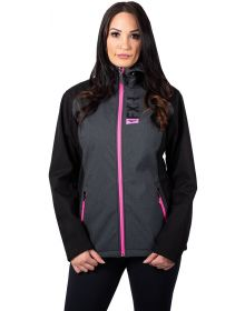 FXR Pulse Softshell Womens Jacket Charcoal Heather/Electric Pink