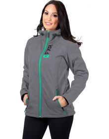 FXR Pulse Softshell Womens Jacket Grey Heather/Mint
