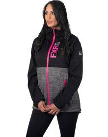 FXR Rush Dual Laminate Womens Jacket Black/Electric Pink