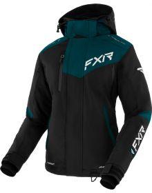 FXR Edge Womens Jacket Black/Ocean/White