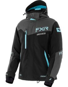 FXR Renegade FX F.A.S.T. Womens Jacket Back/Charcoal/Sky Blue