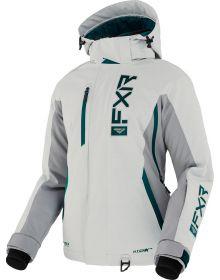 FXR EVO FX F.A.S.T. Womens Jacket Lt Grey/Grey/Ocean